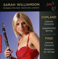COPLAND FINZI ORCH OF SWAN CURTIS - SARAH WILLIAMSON PLAYS COPLAND CD