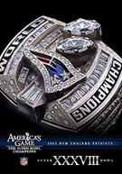 NFL AMERICA'S GAME: PATRIOTS (BOWL) (XXXVIII) DVD