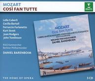 MOZART / DANIEL  BARENBOIM - COSI FAN TUTTE CD