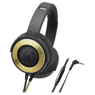 AUDIO-TECHNICA SOLID BASS HEADPHONES W/ 53MM DRIVERS - BLACK/GOLD