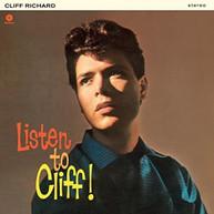 CLIFF RICHARDS - LISTEN TO CLIFF! + 2 BONUS TRACKS (BONUS) (TRACKS) VINYL