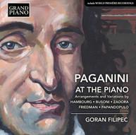 FRIEDMAN /  FILIPEC - PAGANINI AT THE PIANO / ARRANGEMENTS & VARIATIONS CD