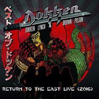 DOKKEN - RETURN TO THE EAST LIVE 2016 CD
