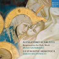 SCARLATTI /  STAGIONE ARMONICA - ALESSANDRO SCARLATTI: RESPONSORIES FOR CD