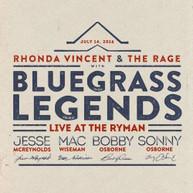 RHONDA VINCENT /  BLUEGRASS LEGENDS - LIVE AT THE RYMAN BLURAY