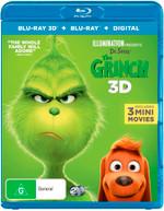 THE GRINCH 3D (DR. SEUSS') (2018) (BLU-RAY 3D/BLU-RAY/DIGITAL) (2018)  [BLURAY]