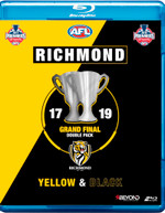 AFL RICHMOND 2017 / 2019 GRAND FINAL DOUBLE PACK YELLOW AND BLACK [BLURAY]