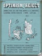 OPTIMISM / REJECT: PUNK &  POST-PUNK MEETS D-I -PUNK MEETS D-I-Y CD