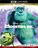 MONSTERS INC 4K BLURAY