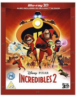 THE INCREDIBLES 2 3D BLU-RAY [UK] BLURAY