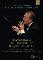 BRAHMS / CLAUDIO  ABBADO - BRAHMS: EIN DEUTSCHES REQUIEM BLURAY