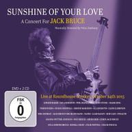SUNSHINE OF YOUR LOVE: CONCERT FOR JACK BRUCE / VA CD