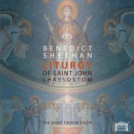 SHEEHAN /  SAINT TIKHON CHOIR - LITURGY OF ST JOHN CHRYSOSTOM BLURAY