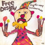 FREE DESIGN - SING FOR VERY IMPORTANT PEOPLE (PINK SPLATTER VINY VINYL