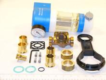 "Honeywell F74C1023 1""Water Filter 100 Micron W/Gauge"