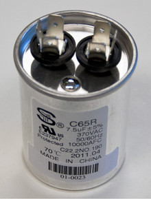 Nordyne 01-0023 Round Run Capacitor 7.5Mfd 370V