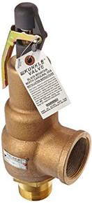 "Kunkle Valve 6010JHE01-AM0150 Bronze ASME Safety Relief Valve for Steam, EPR Soft Seat, 150 Preset Pressure, 2"" NPT Male Inlet x 2-1/2"" NPT Female Outlet"