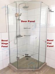 Angled Frameless Glass Shower