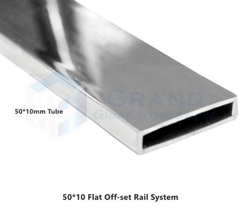 50*10mm rail tube