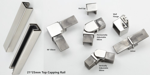 Square top capping rail