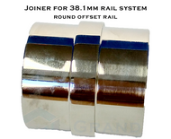 Joiner for 38.1mm round offset rail system