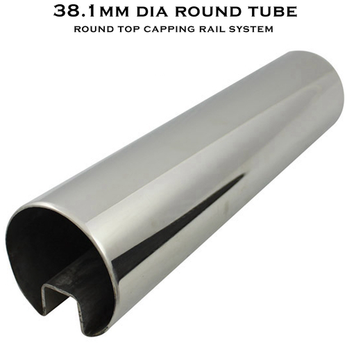 38.1 Diam Slot Round Tube (316 S/S Mirror)