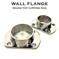 Wall Flange for 38.1mm Dia Round Top Capping Rail