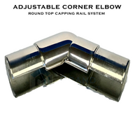 Adjustable Elbow for 38.1mm Round Top Capping Rail