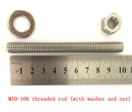 316 Stainless Steel Concrete Fixing Screws 100mm - M10-100 Threaded Rod