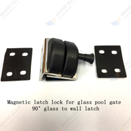 Magnetic Latch Lock for glass pool gate - 90° glass to wall latch