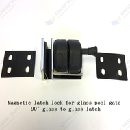 Magnetic Latch Lock for glass pool gate - 90° glass to glass latch