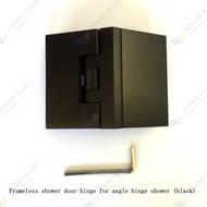 135  Black Shower Hinge for angle hinge shower