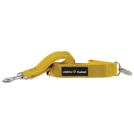 Yellow Bamboo Dog Leash Winston Manner