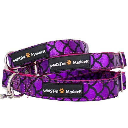 Violet Mermaid Dog Collar