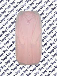 LIGHT PINK 1X WOMENS BATHROBE ZIP FRONT with FREE SHIPPING