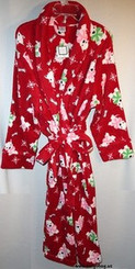 RED WOMENS 2X BATHROBE with FREE SHIPPING