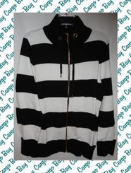 CHAPS WOMAN 2X ZIP FRONT CARDIGAN SWEATER with FREE SHIPPING