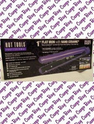 "PURPLE 1"" HOT TOOLS  CERAMIC FLAT IRON with FREE SHIPPING"
