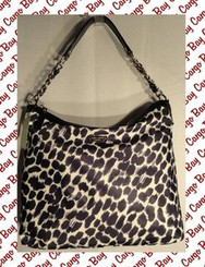 KATE SPADE BLACK & WHITE ANIMAL PRINT PURSE with FREE SHIPPING