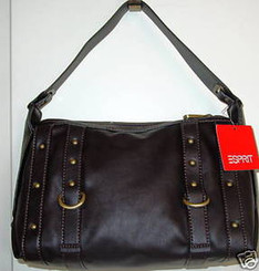 ESPRIT CHOCOLATE BROWN NOELLE HOBO PURSE with FREE SHIPPING