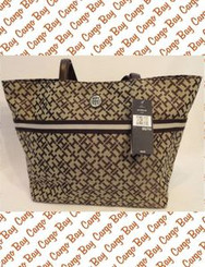 Chocolate Brown Tommy Hilfiger Logo Tote with Free Shipping