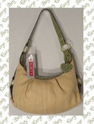 ROSETTI TAN STRAW WEAVE PURSE with FREE SHIPPING