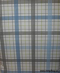 BLUE & GRAY PLAID QUEEN FLANNEL SHEET SET with FREE SHIPPING