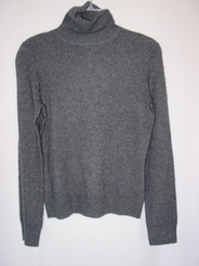 Misses Size Small Gray 100% Cashmere Sweater