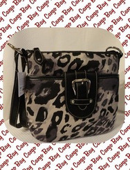 BLACK LEOPARD PRINT CROSS BODY BAG w/ FREE SHIPPING