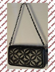 Kate Landry Black Quilted Mini Bag with Free Shipping