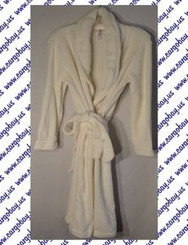 Plush Cream Spa Robe Size XXL with Free Shipping
