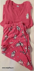 PINK FLEECE POLAR BEAR PAJAMA SET SIZE XXL with FREE SHIPPING
