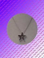 Sterling Silver and Diamond Star Necklace with Free Shipping
