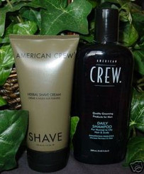 FULL SIZE AMERICAN CREW HERBAL SHAVE CREAM & SHAMPOO